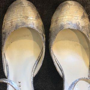 Anthropologie Shoes - Bettye Muller Bejeweled Gold Heel